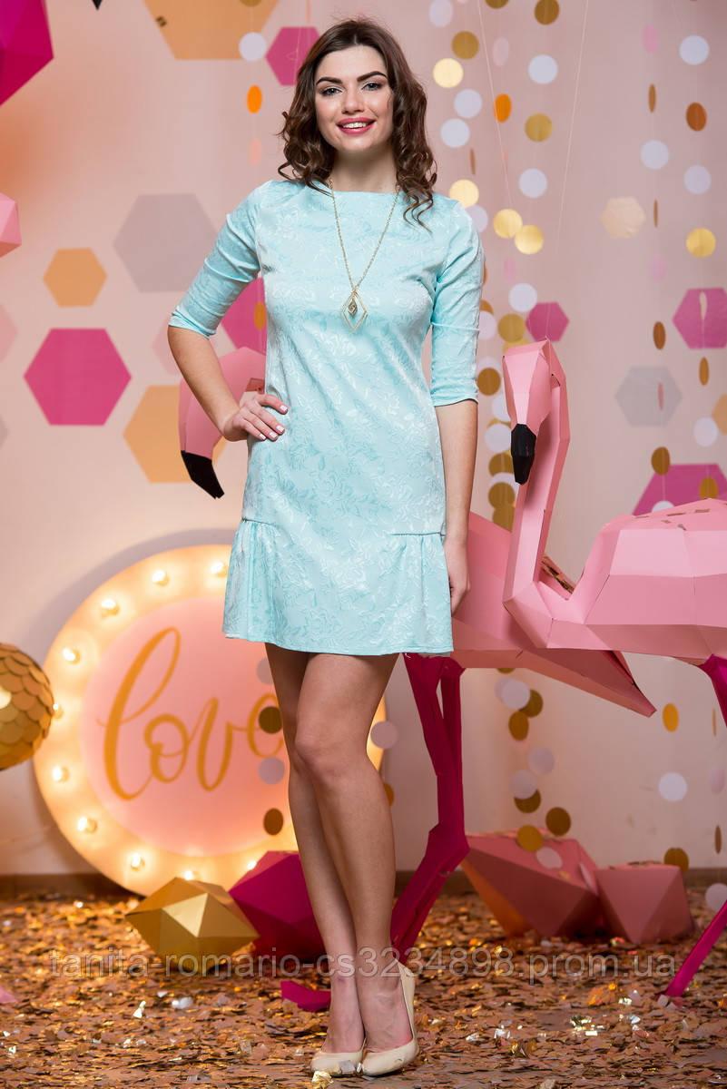 Повседневное платье 7018e Мятный
