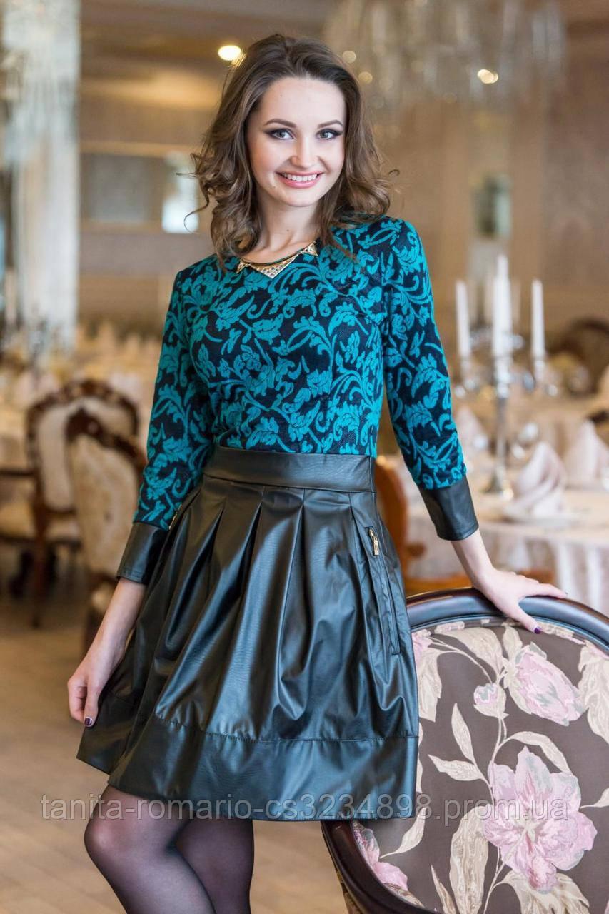 Повседневное платье 4431e Бирюза S(р)