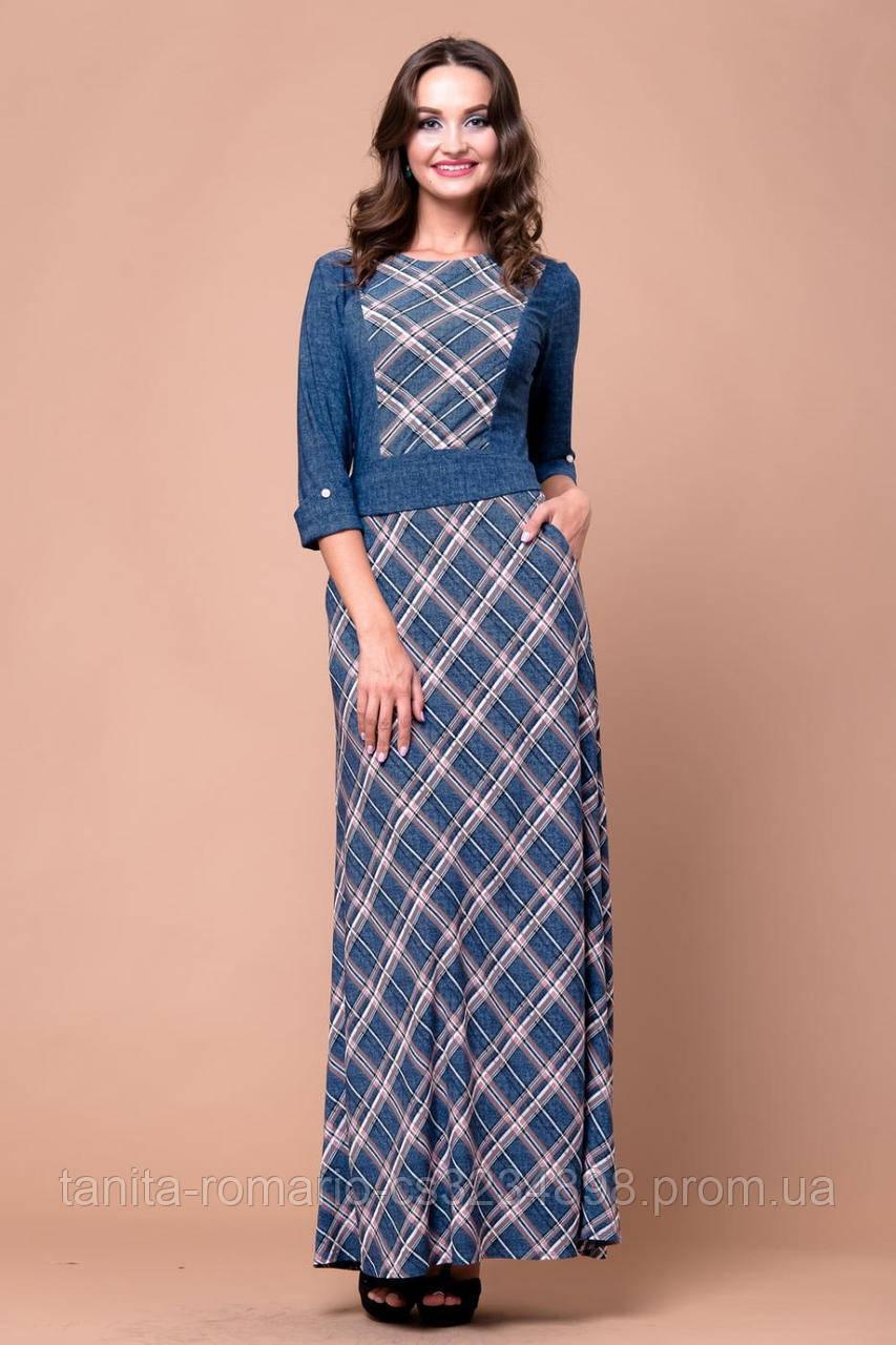 Повседневное платье 5212e Коричневый M(р)