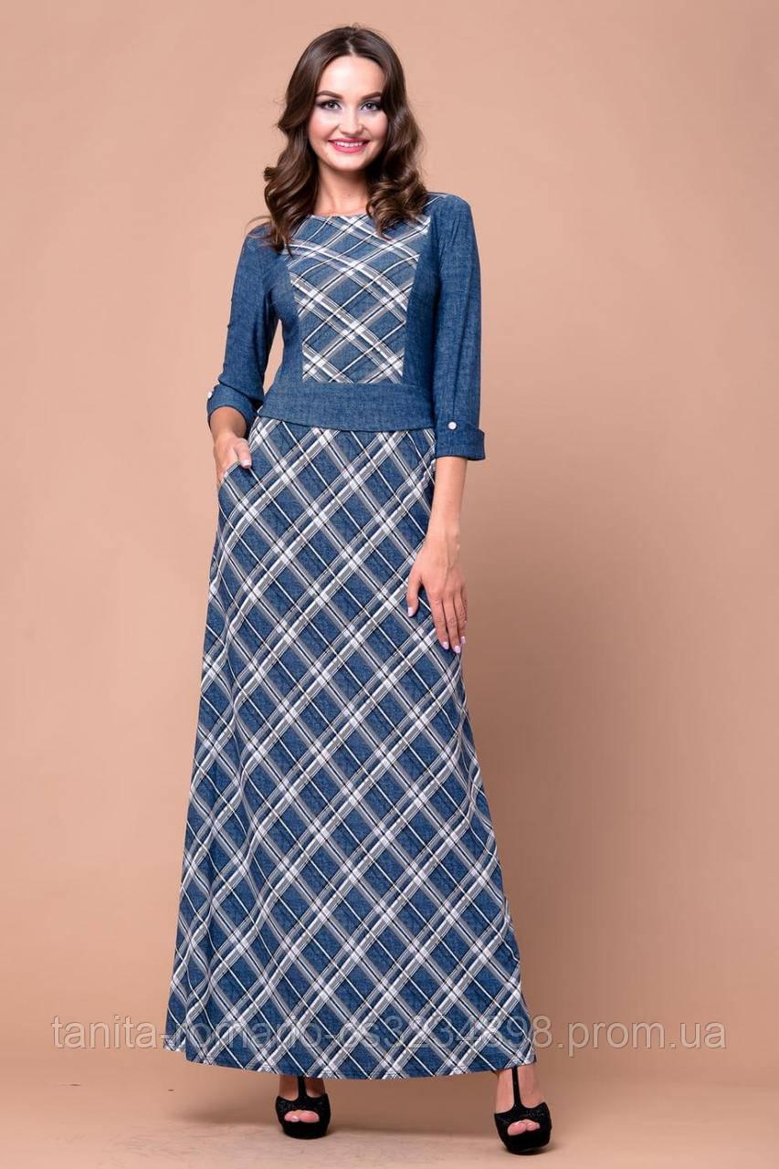 Повседневное платье 5212e Серый M(р)
