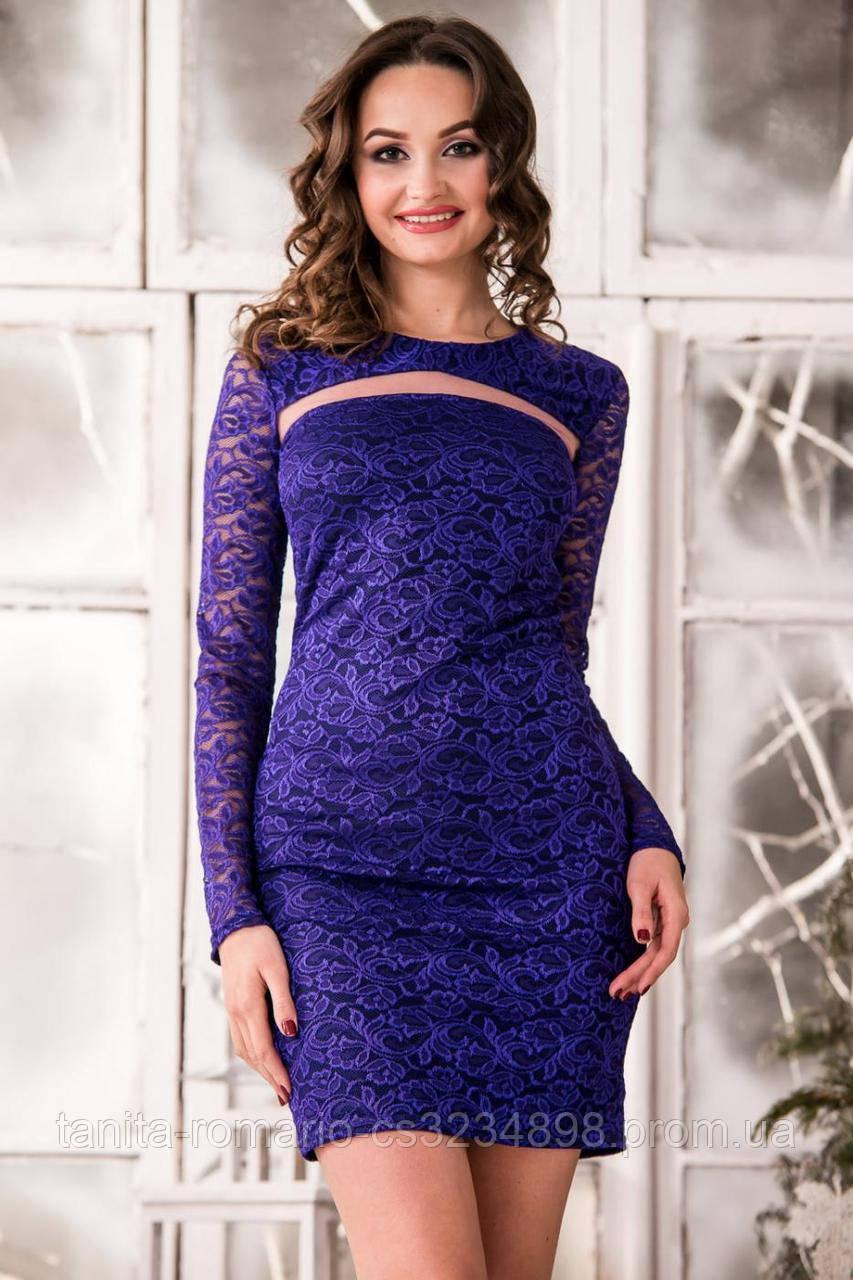 Коктейльное платье 5294e Индиго M(р)
