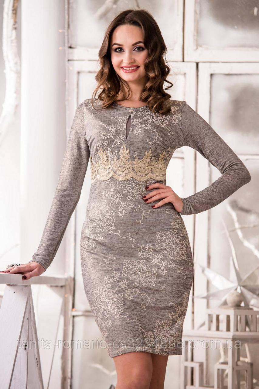 Коктейльное платье 5347e Серый L(р)