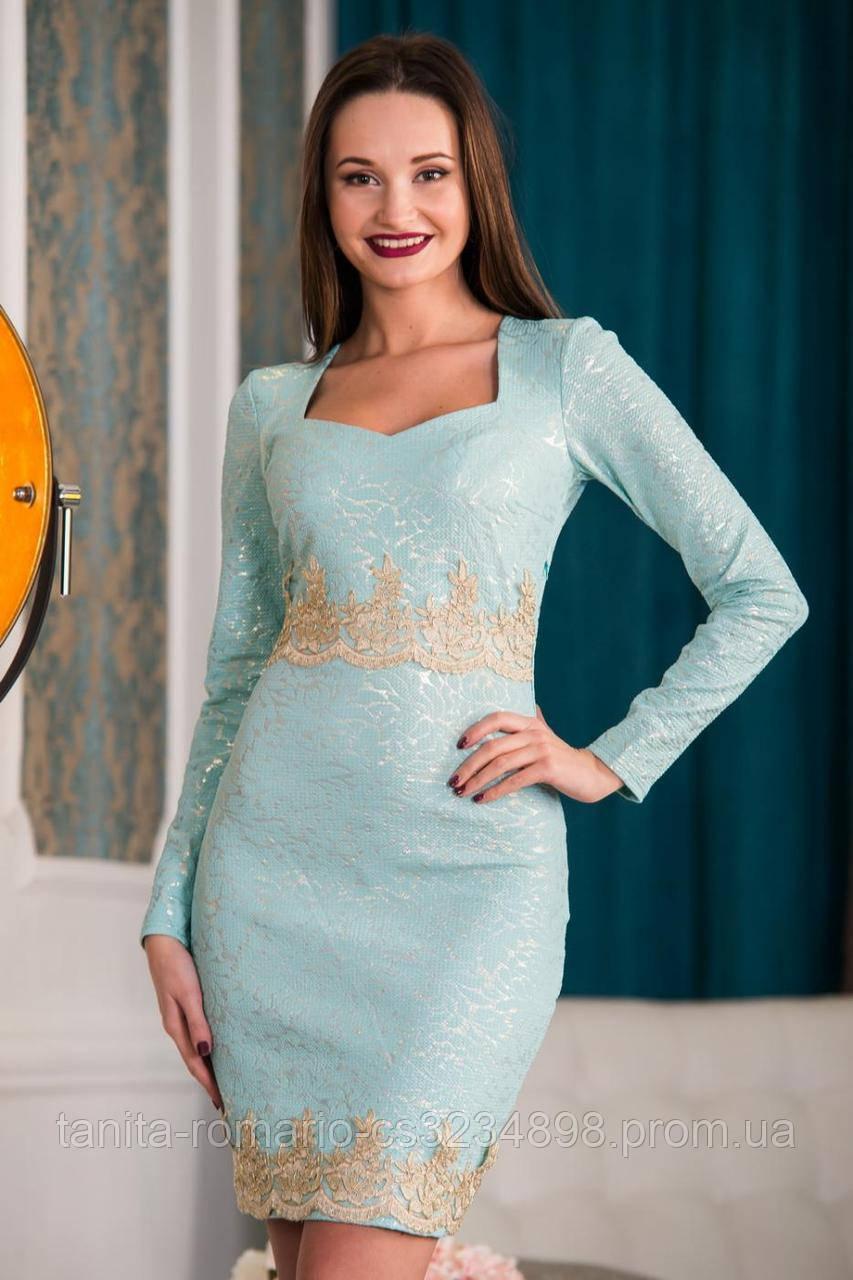 Коктейльное платье 5340e Мятный S(р)
