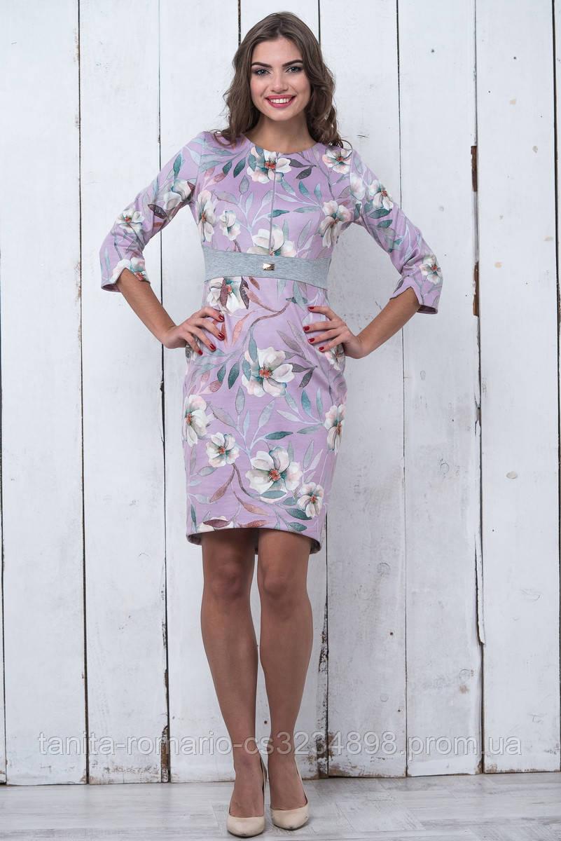 Повседневное платье 6205e Сиреневый L(р)