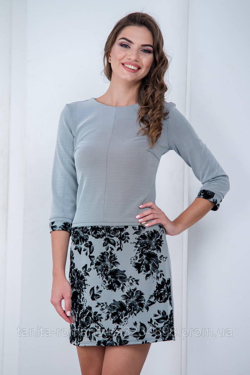 Повседневное платье 6202e Серый L(р)