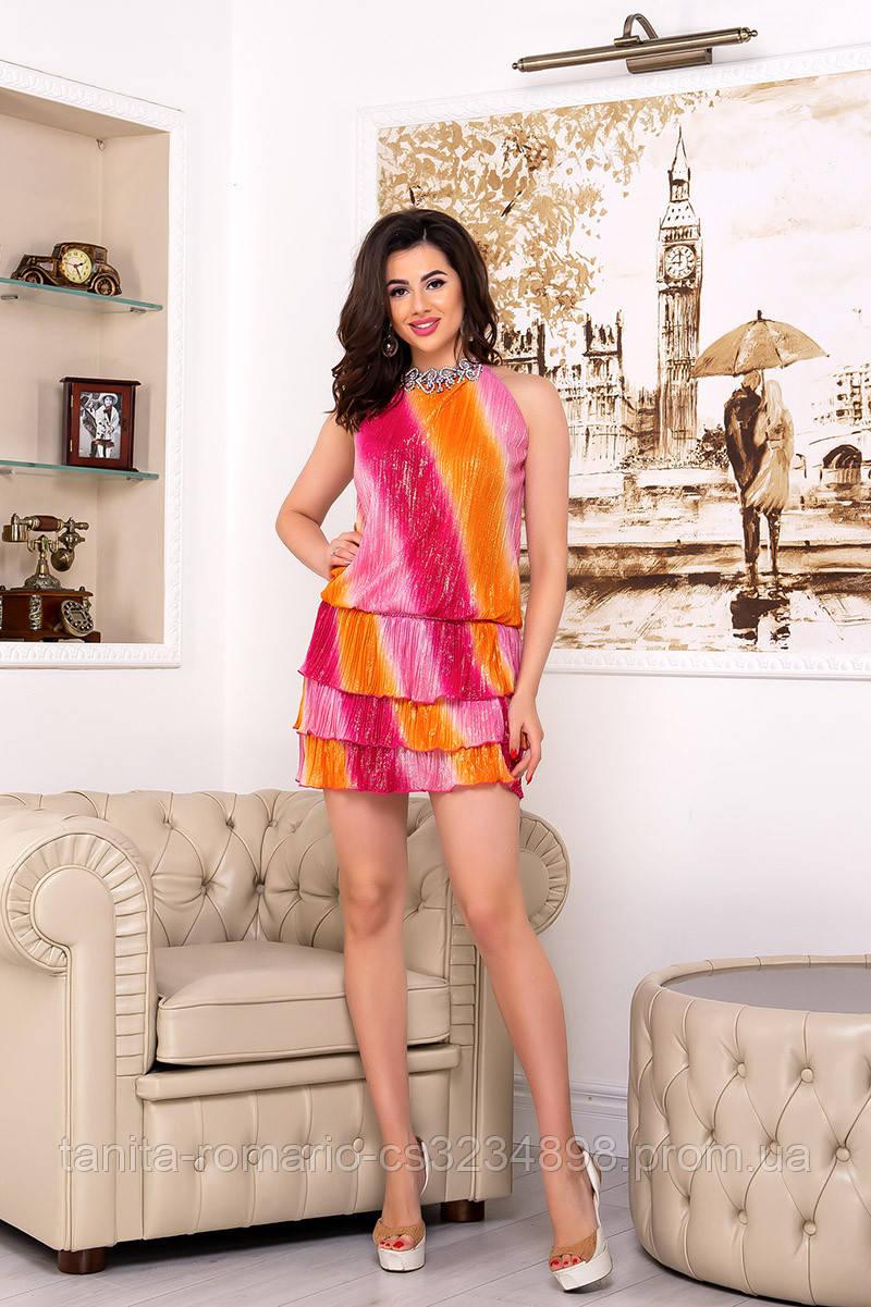 Коктейльное платье 2050e Оранжевый M(р)