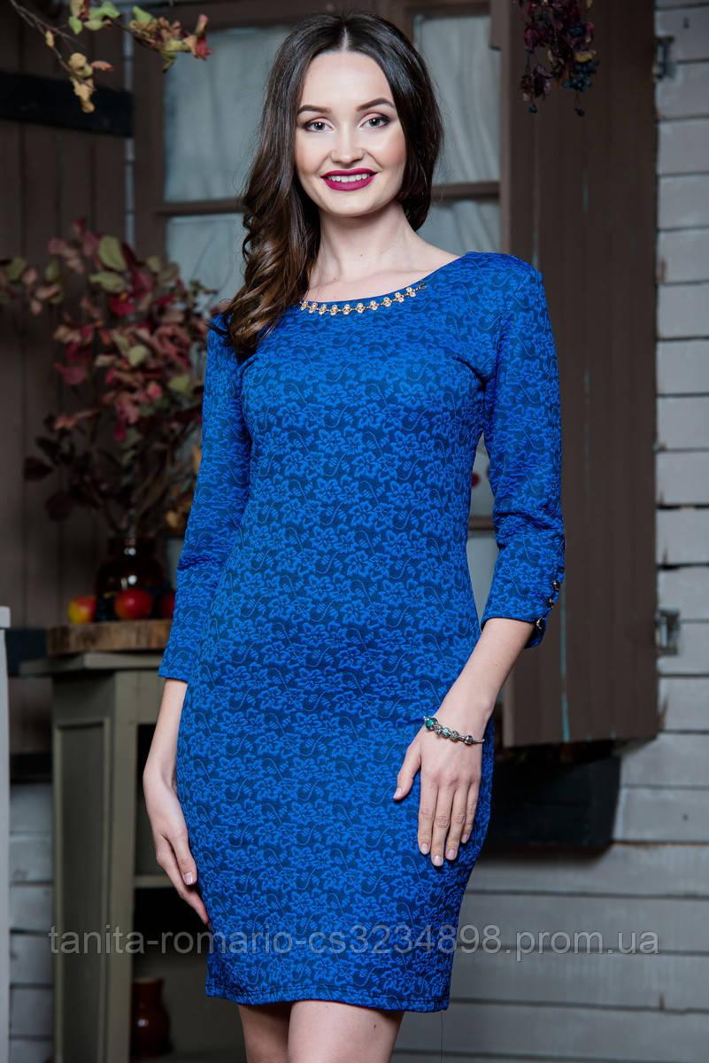 Повседневное платье 5217e Электрик S(р)