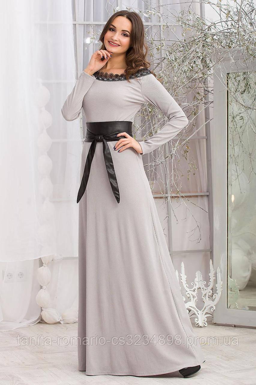 Повседневное платье 5283e Серый L(р)