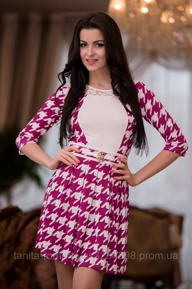 Повседневное платье 4037e Сиреневый M(р)