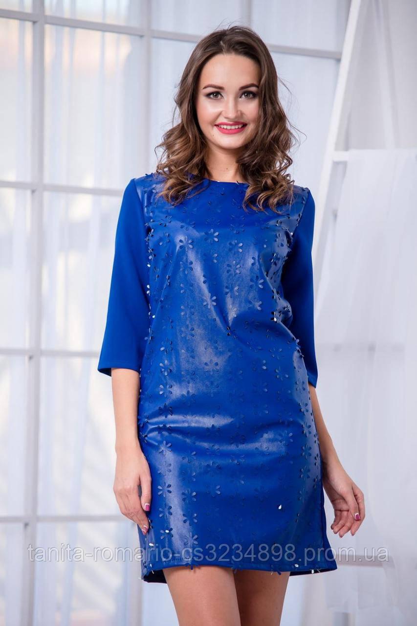 Коктейльное платье 5213e Электрик M(р)