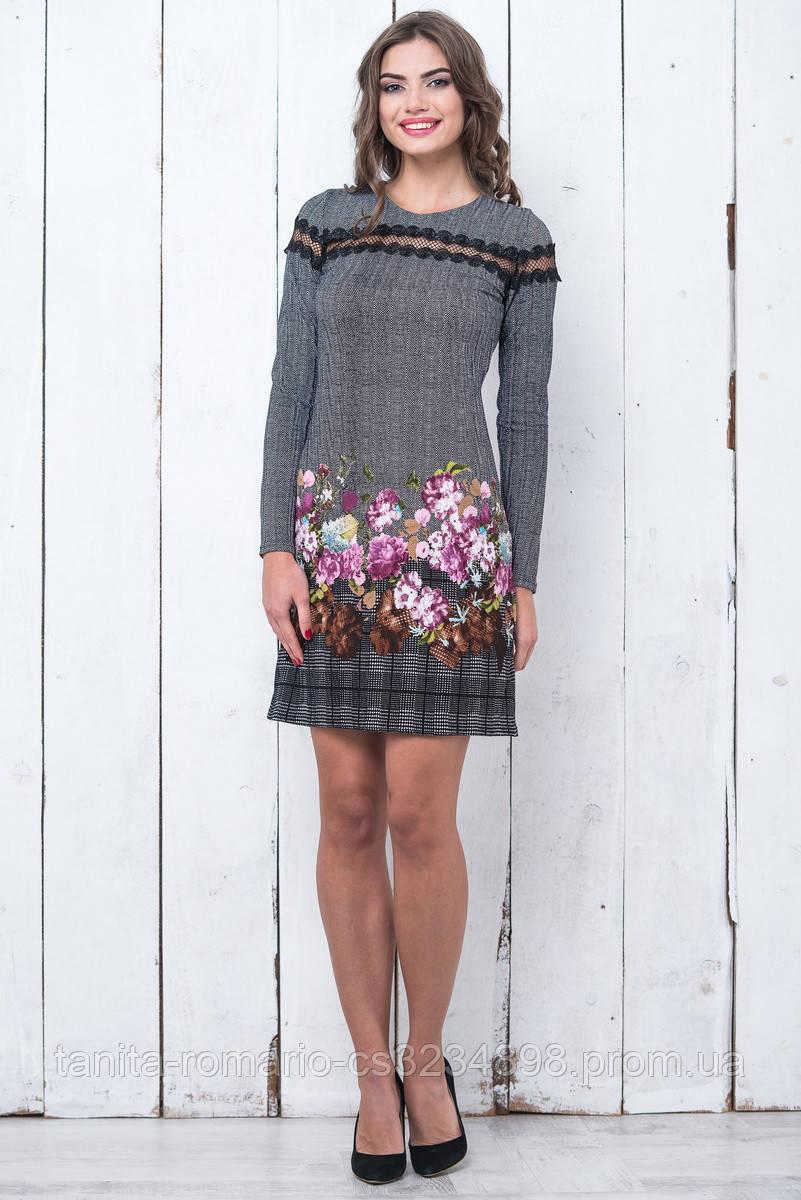 Повседневное платье 5304e Розовый M(р)