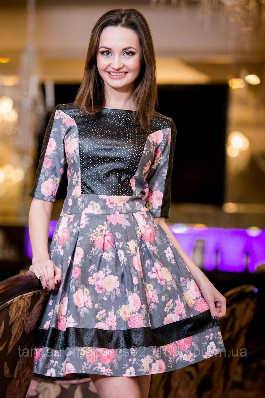 Повседневное платье 5023e Чёрный L(р)