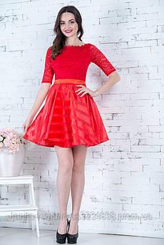 Коктейльное платье 6281e Красный L(р)