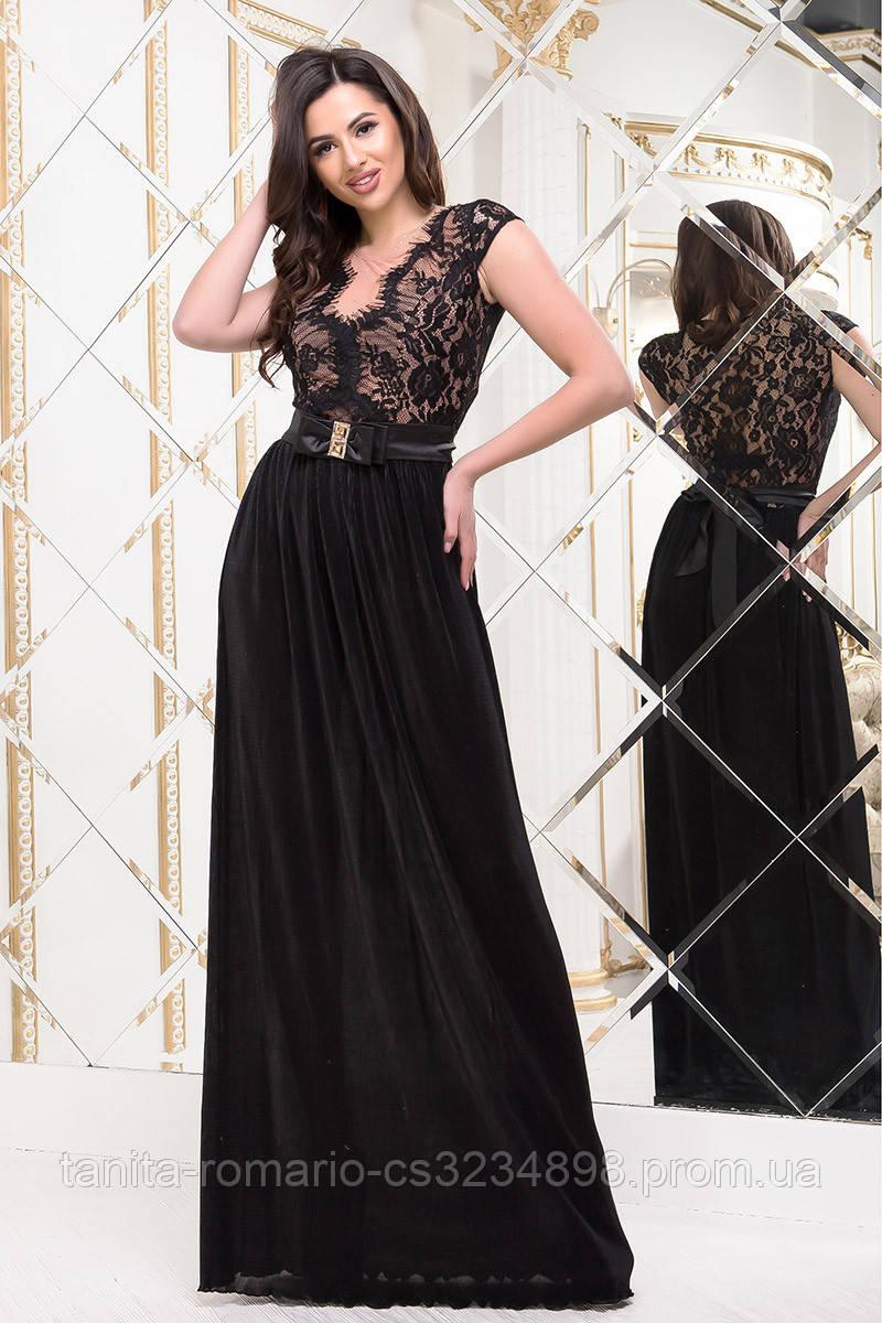 Вечернее платье 5180e Чёрный S(р)
