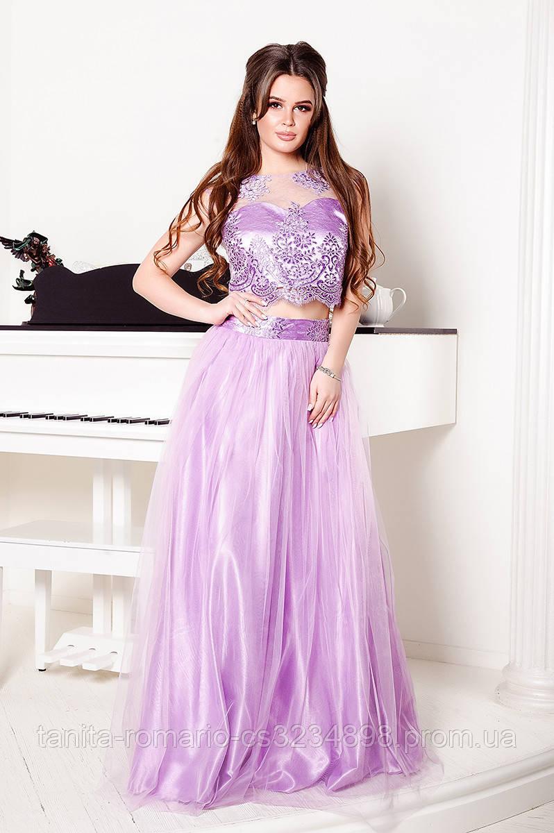 Вечернее платье 8016e Сиреневый S(р)