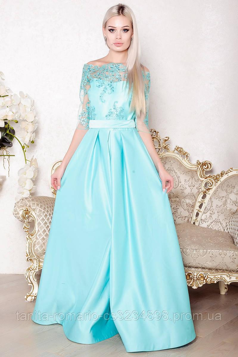 Вечернее платье 7179e Мятный S(р)