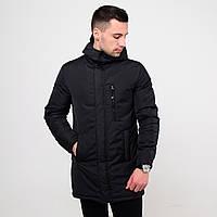 Куртка мужская удлиненная демисезонная хаки / бомбер до -0* С / осенняя весенняя