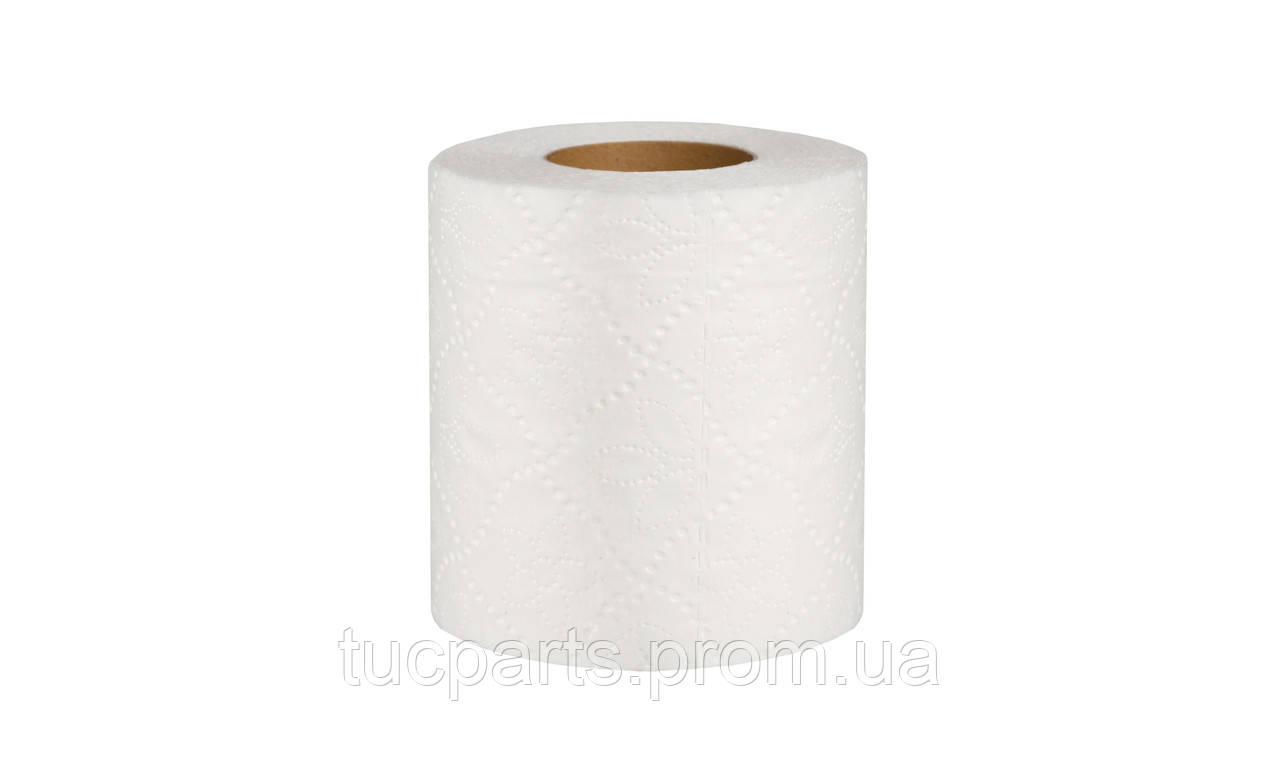 Туалетная бумага двухслойная (белая) с перфорацией 18 м в рулоне (12 шт)