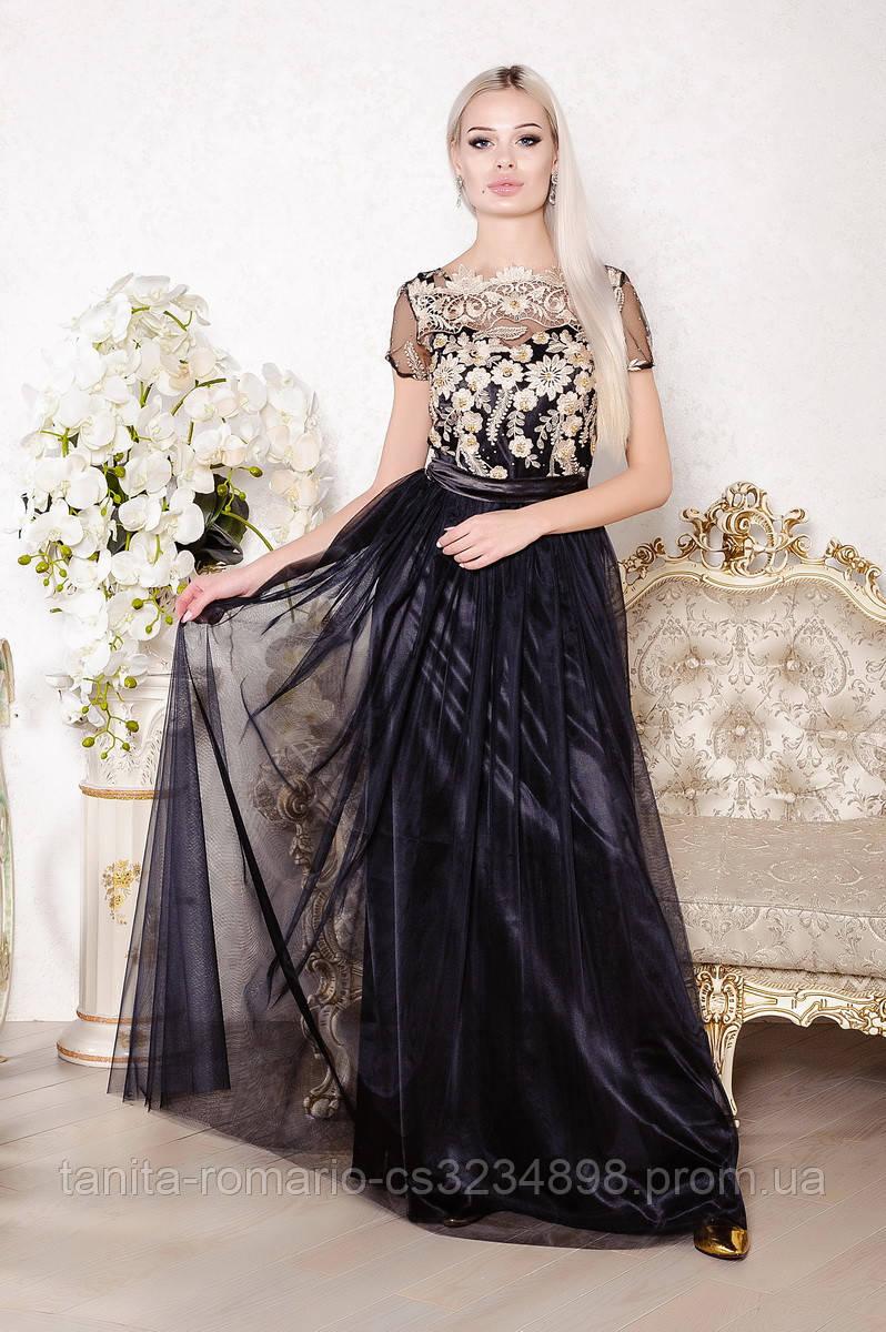 Вечернее платье 8001e Чёрный M(р)