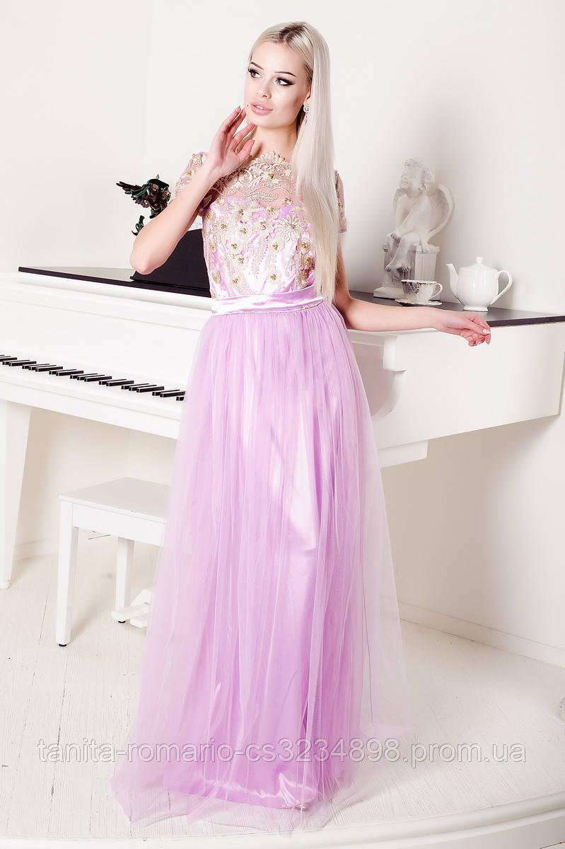 Вечернее платье 8001e Сиреневый L(р)