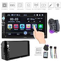 "Автомагнитола 7010/7018 2Din с экраном 7"" дюймов FM, MP, Bluetooth, MicroSD, USB, Wince 6.0, Пульт ДУ"