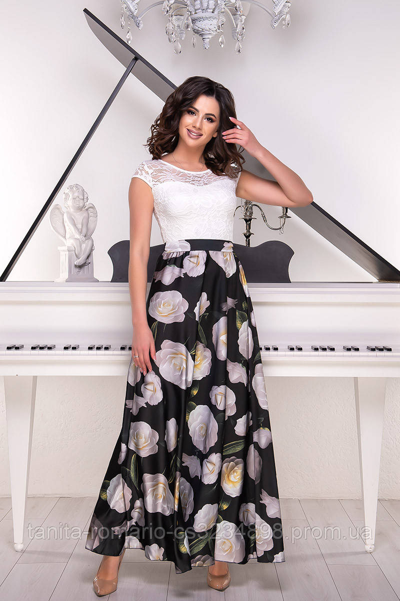 Повседневное платье 6061e Чёрный S(р)