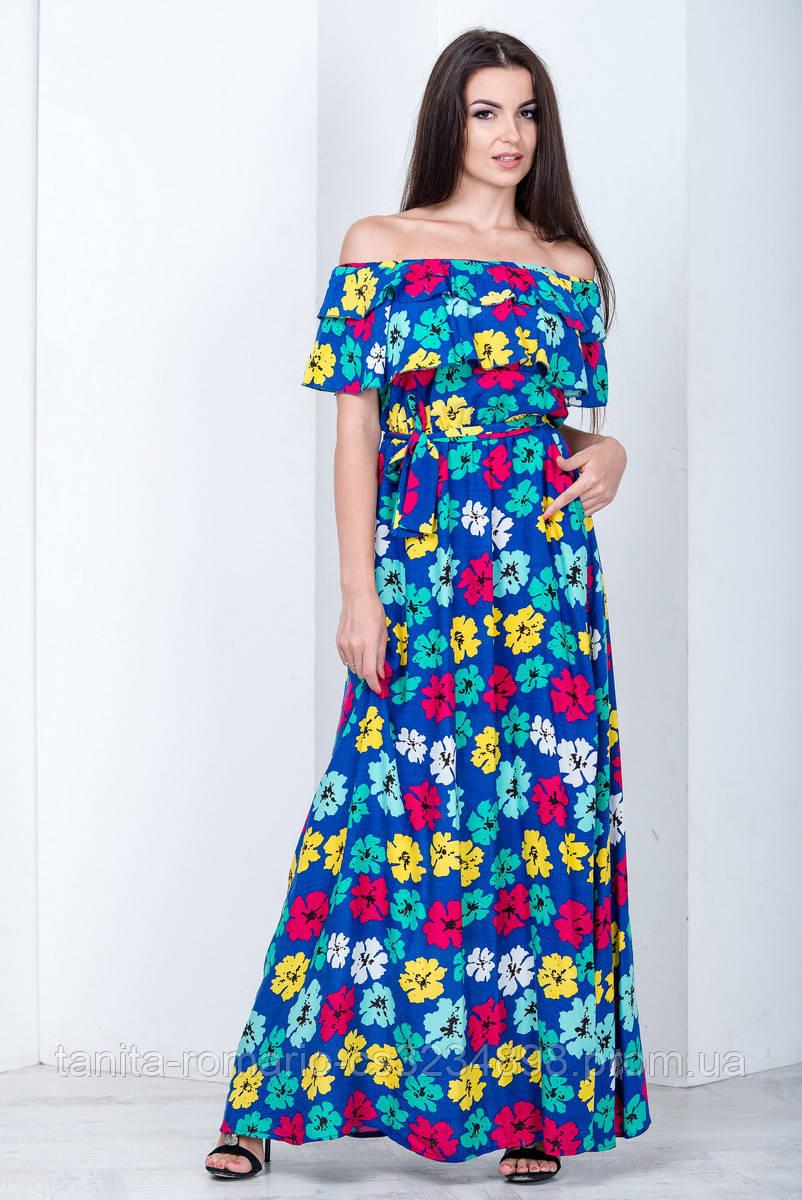 Повседневное платье 6161e Электрик L(р)