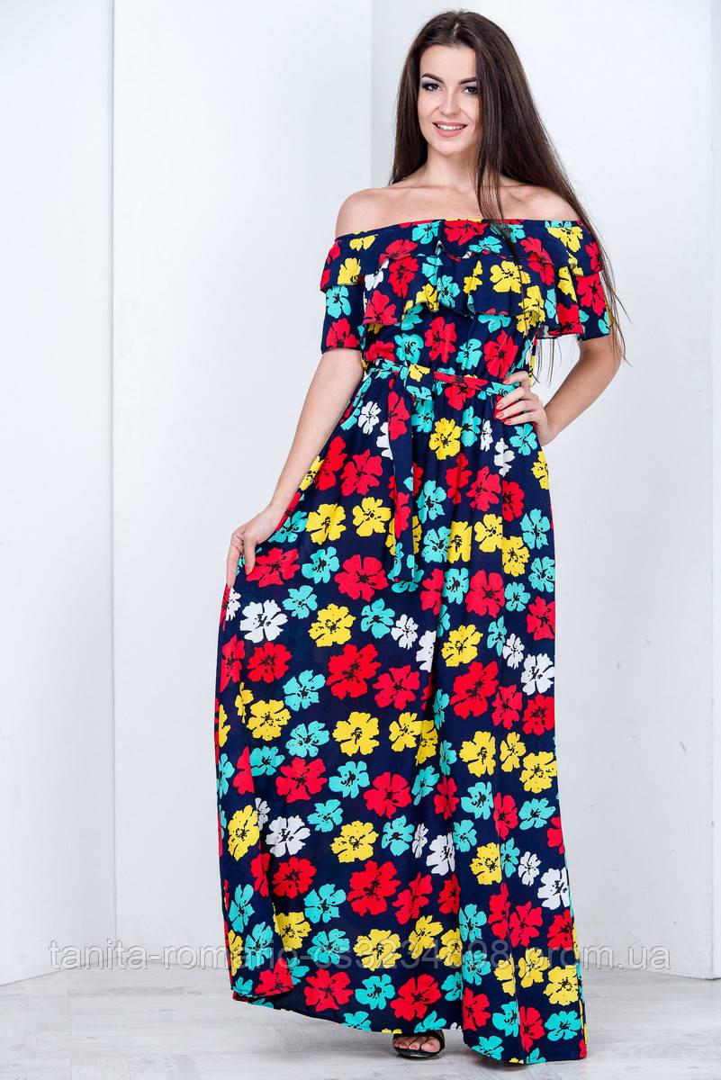 Повседневное платье 6161e Синий L(р)