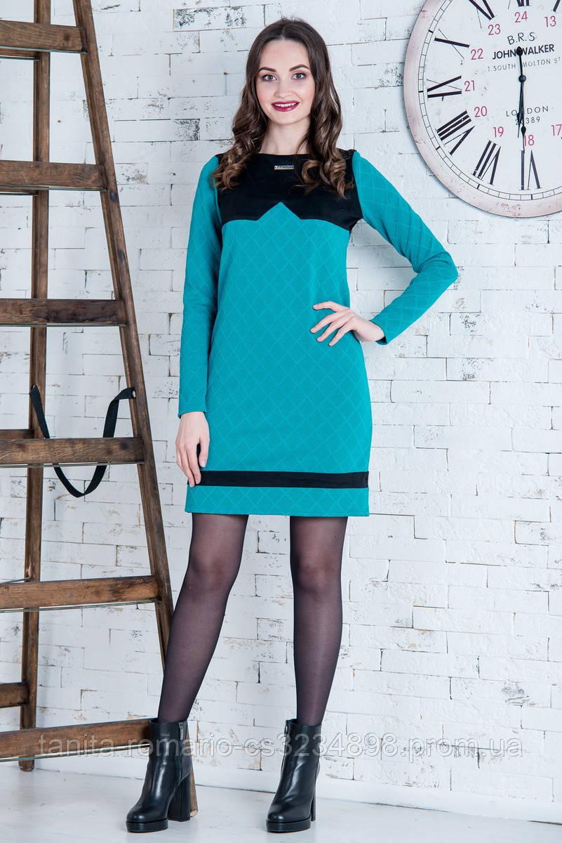 Повседневное платье 6235e Бирюза S(р)