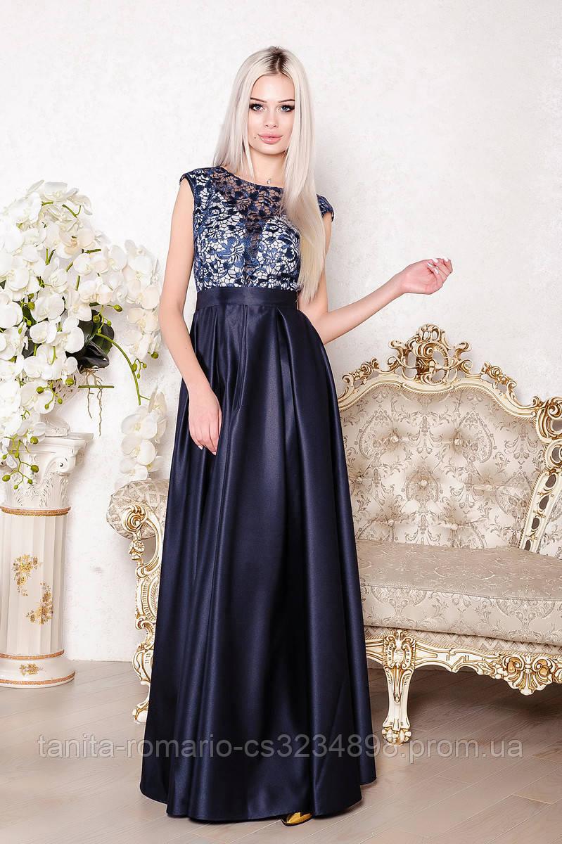Вечернее платье 8024e Синий M(р)