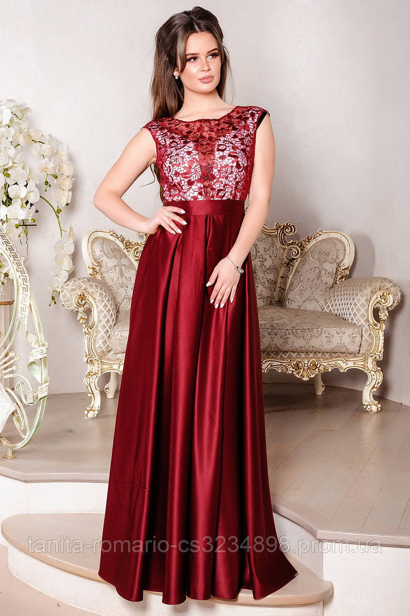Вечернее платье 8024e Бордо M(р)
