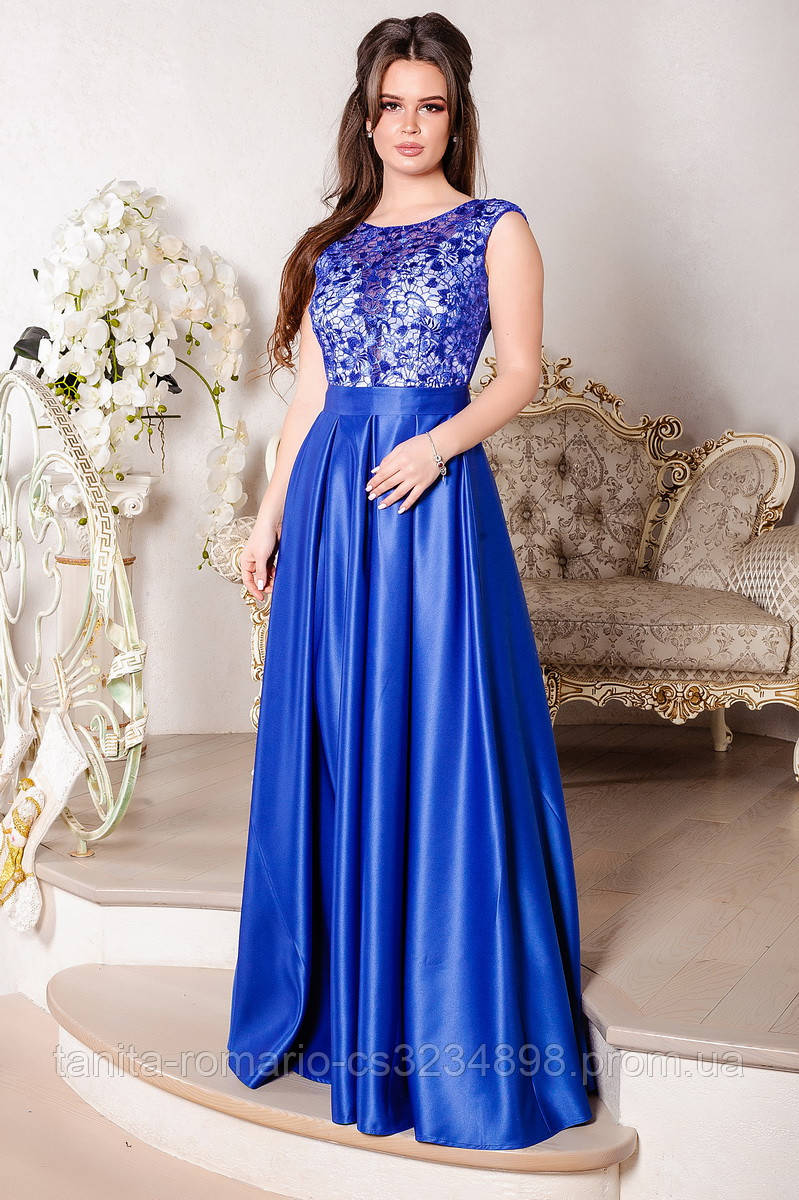 Вечернее платье 8024e Электрик L(р)