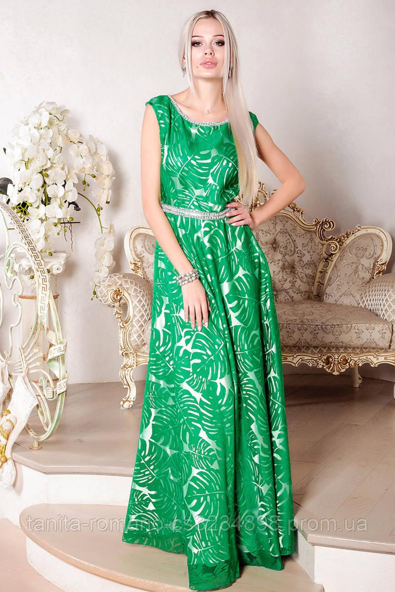 Вечернее платье 7090e Зелёный L(р)