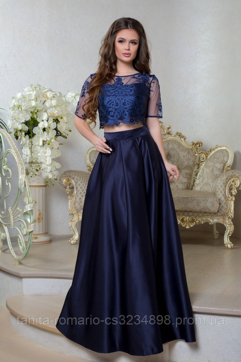 Вечернее платье 8012e Синий L(р)