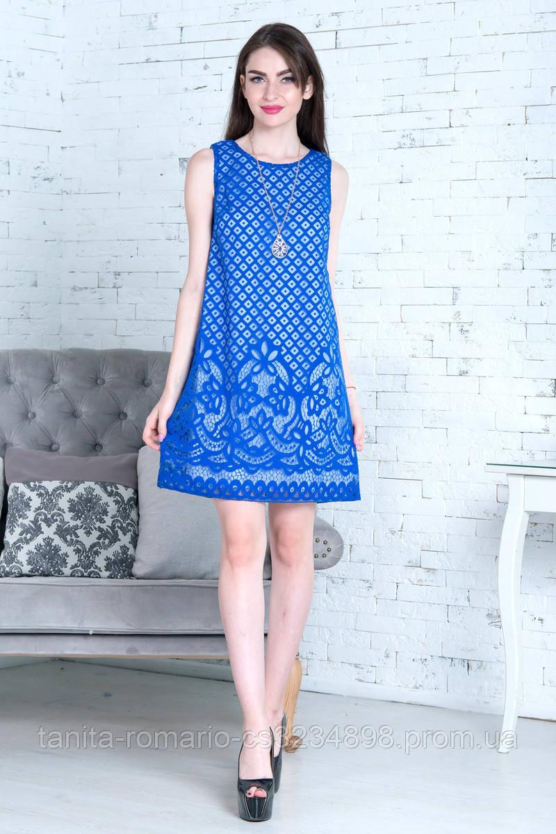 Повседневное платье 7143e Электрик M(р)