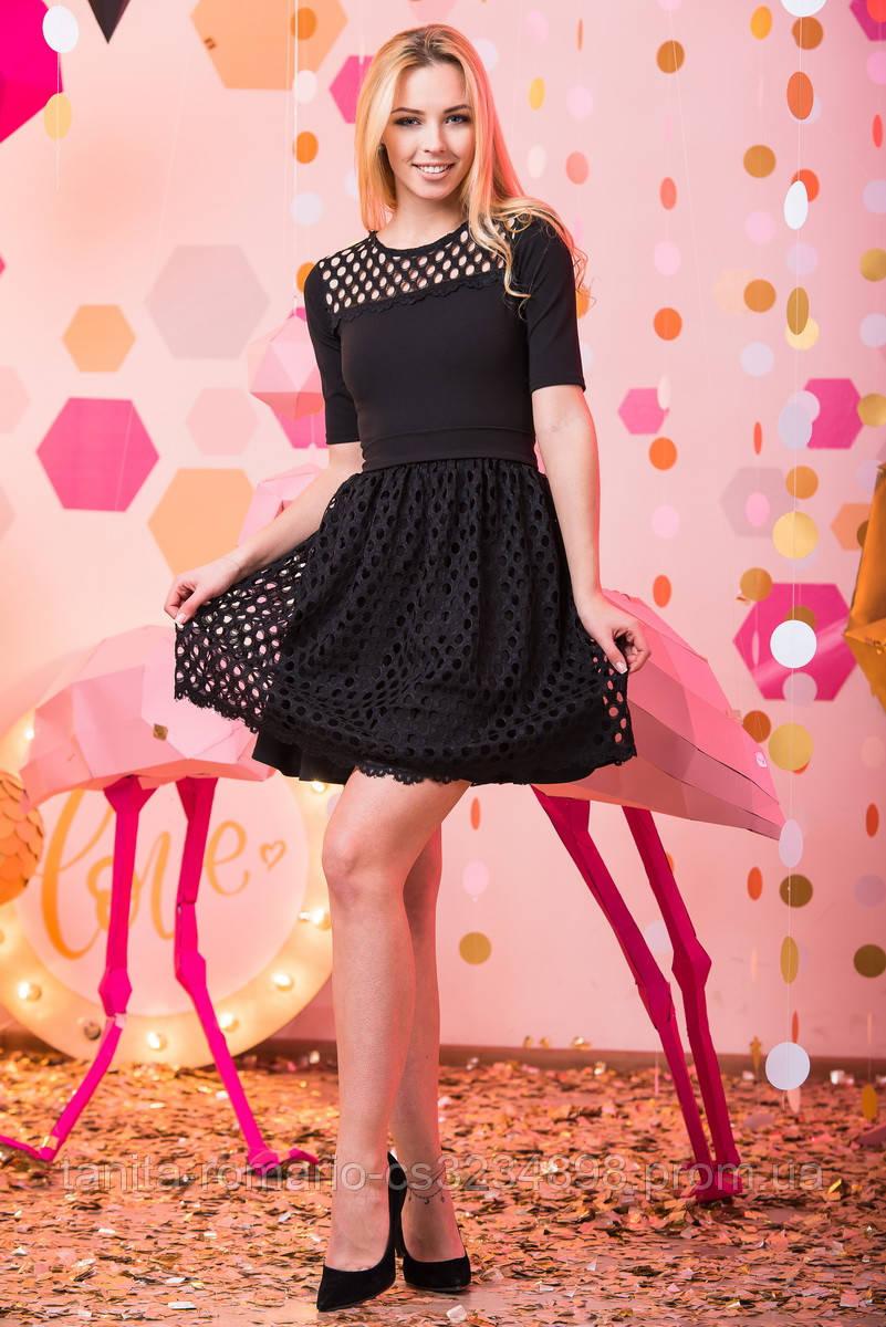 Коктейльное платье 7045e Чёрный L(р)