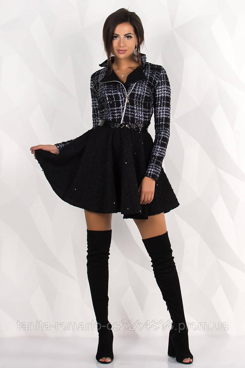 Повседневное платье 7240e Чёрный L(р)