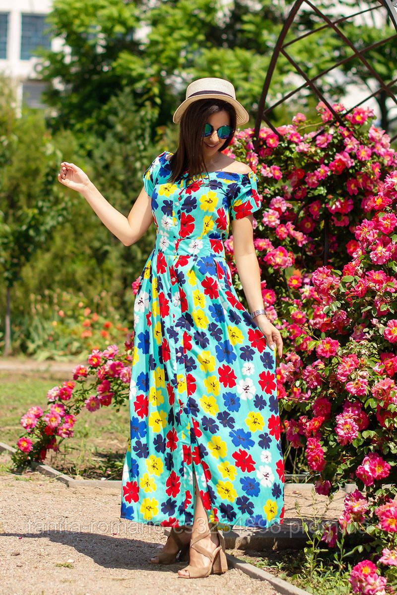Повседневное платье 5143e Мятный L(р)