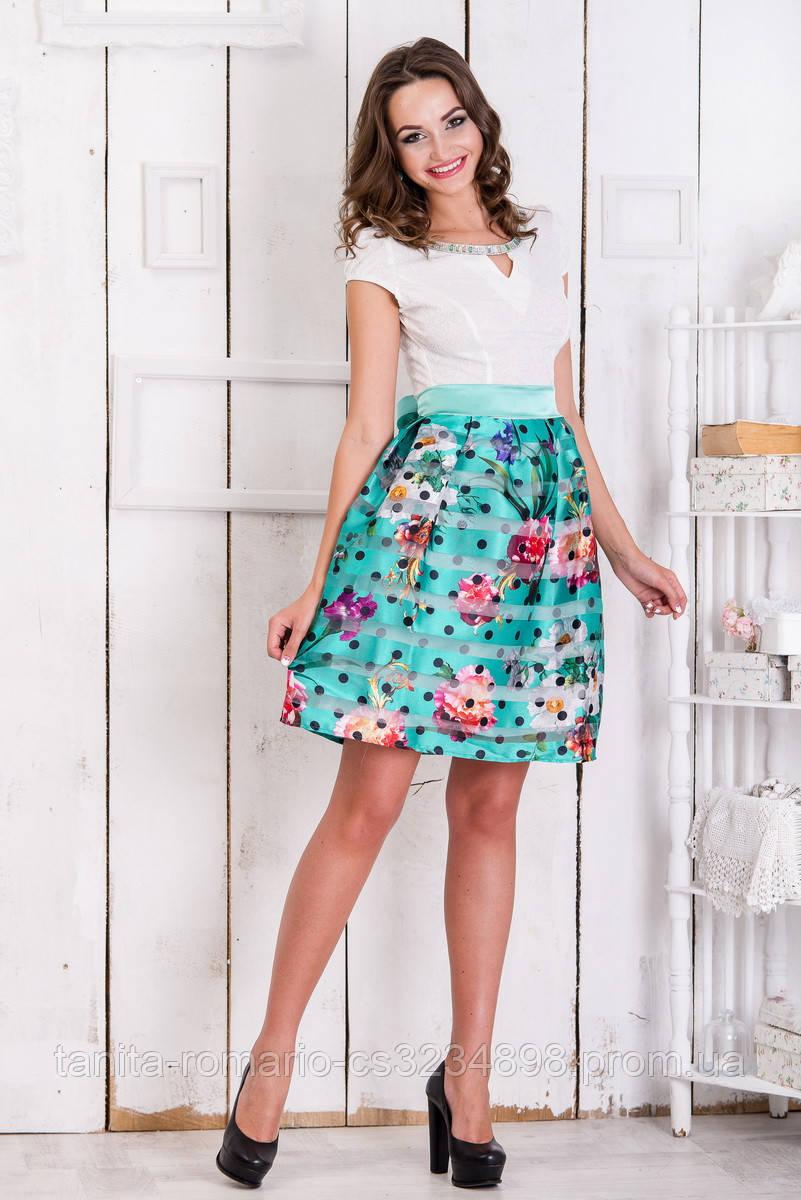 Повседневное платье 5087e Бирюза M(р)