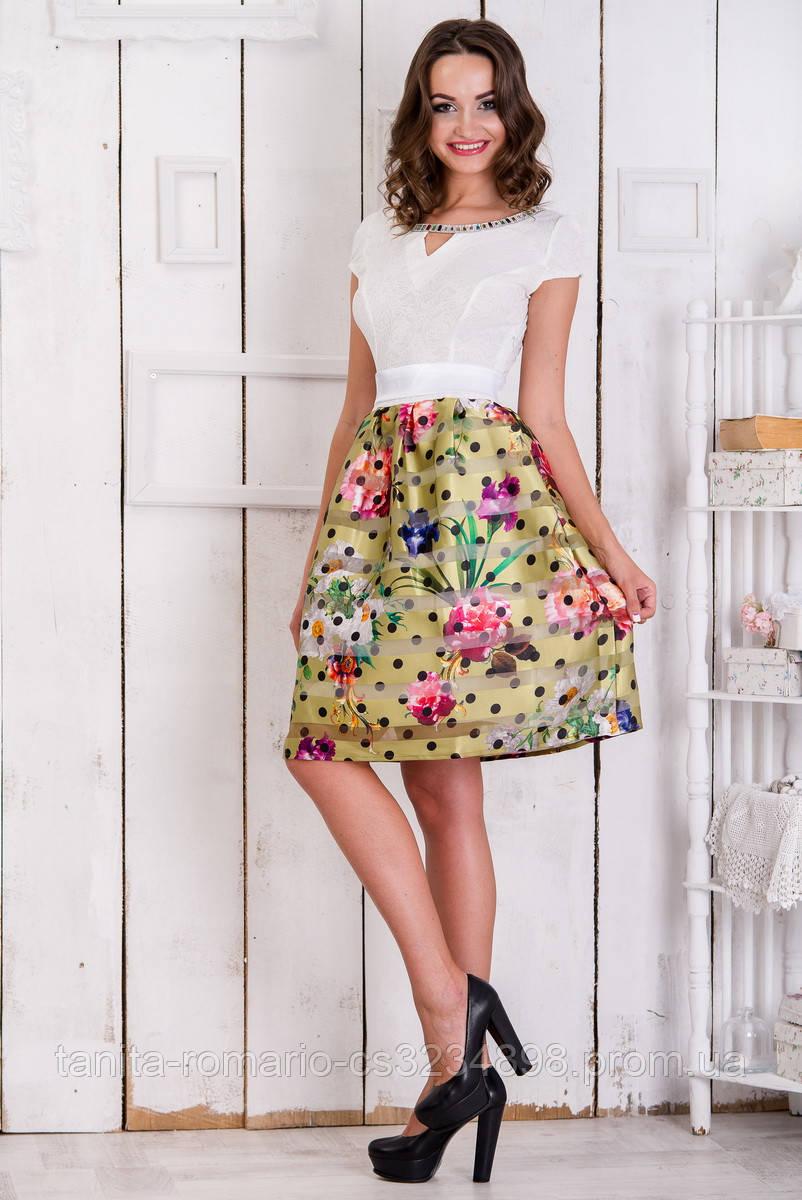 Повседневное платье 5087e Жёлтый M(р)
