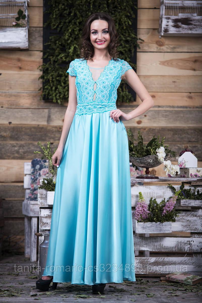 Вечернее платье 5099e Бирюза S(р)