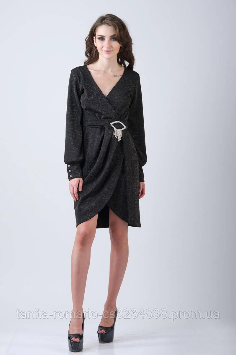 Повседневное платье 7217e Чёрный M(р)