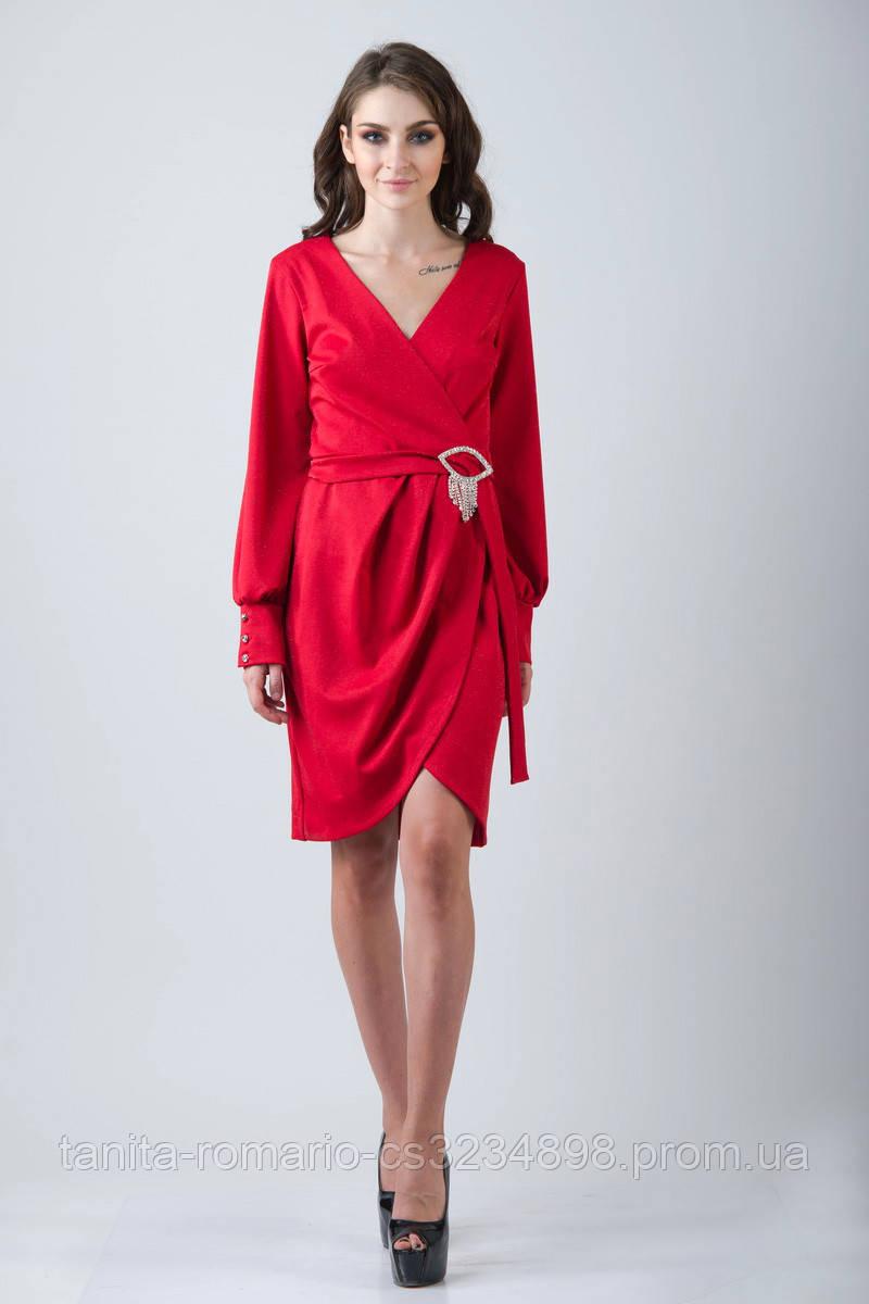 Повседневное платье 7217e Красный L(р)