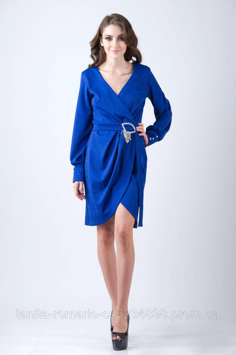 Повседневное платье 7217e Электрик L(р)