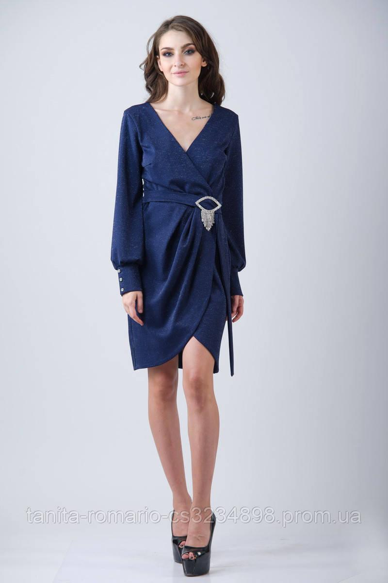 Повседневное платье 7217e Синий L(р)