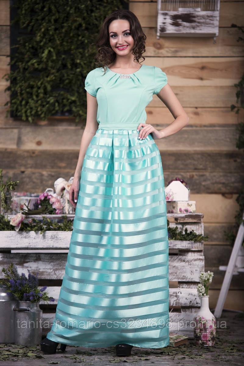 Вечернее платье 5116e Мятный S(р)