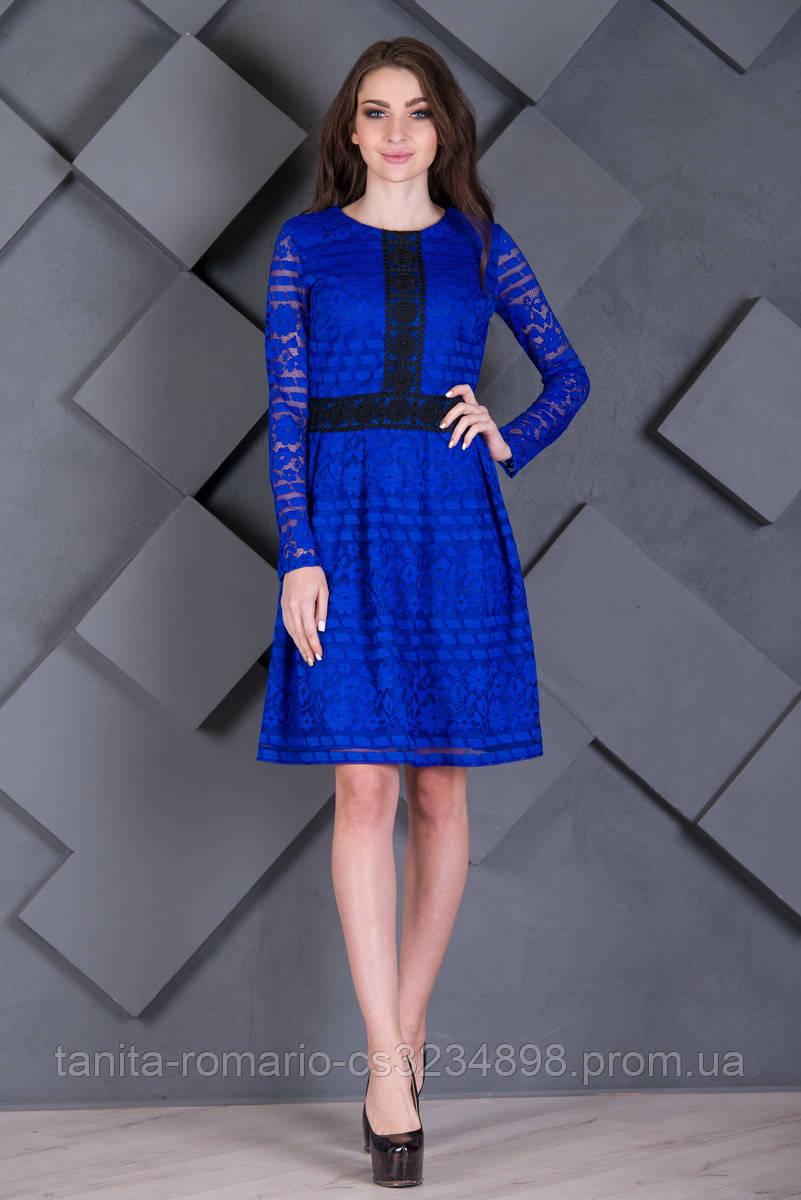 Повседневное платье 7227e Электрик L(р)