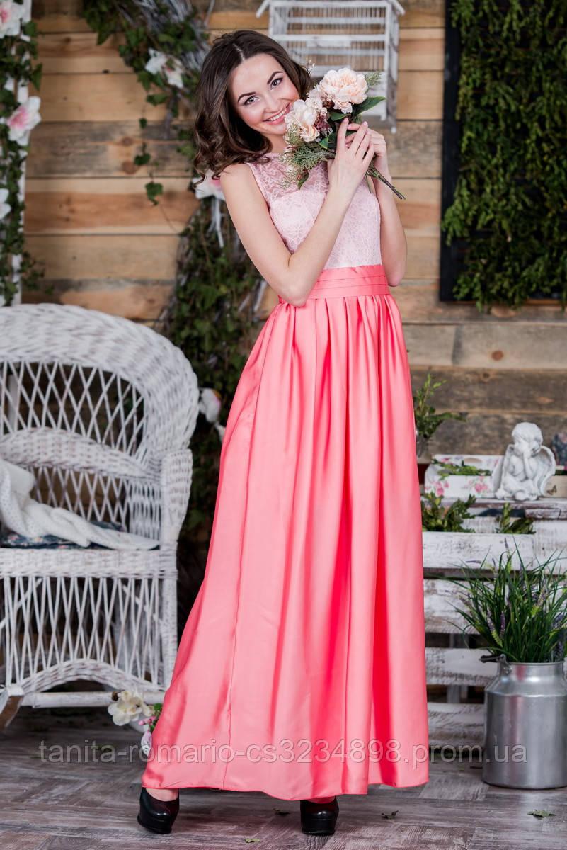 Вечернее платье 5072e Коралловый L(р)