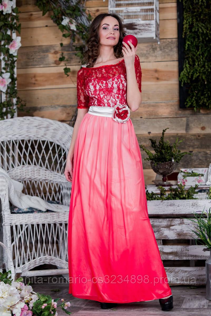 Вечернее платье 5074e Красный S(р)