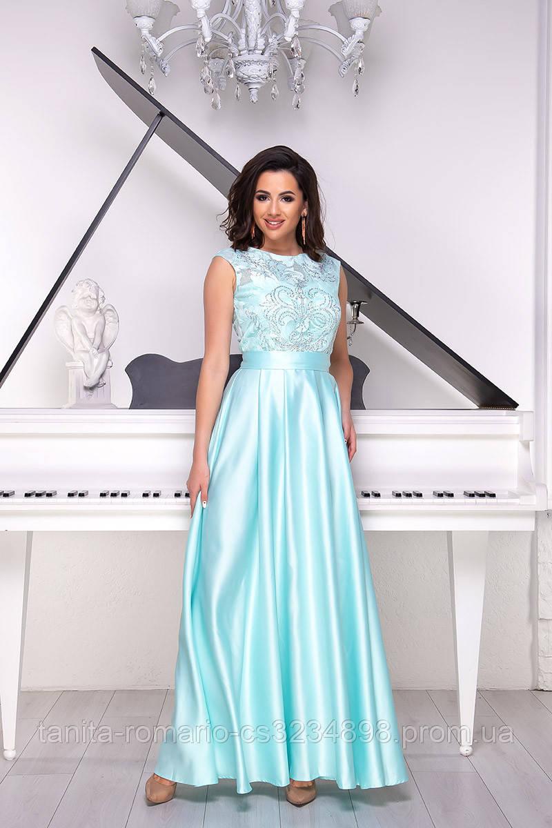 Вечернее платье 8020e Бирюза L(р)
